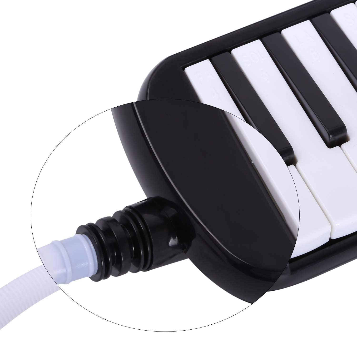 Timiy 32 Keys Melodica Piano with Mouthpieces Tube & Carrying Bag Musical Instrument Black by Timiy (Image #6)