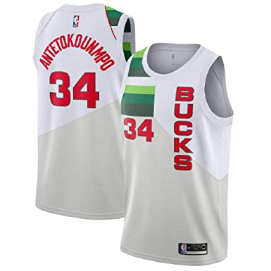 the best attitude 86479 fd7d0 Giannis Antetokounmpo #34 Milwaukee Bucks 2018-19 Swingman Men's Jersey