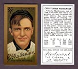 Christy Mathewson 1911 T205 Gold Border Baseball Reprint Card (In its own case) (Giants)