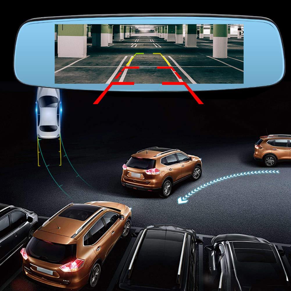 R/ückspiegel GPS Dual Linse Ahomi 19,1 cm FHD 1080P Auto DVR Kamera Bluetooth Mikrofon 4G Wifi Dashcam Android 5.1 1,3 GHz Quad Core Drive Recorder