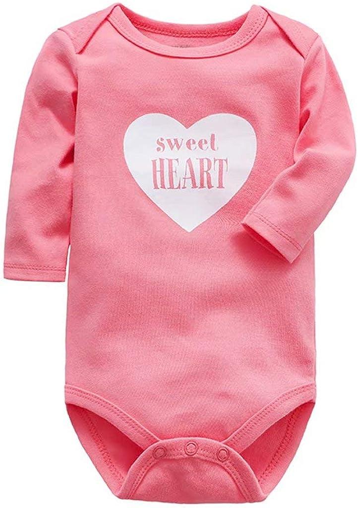 Vine Baby Bodysuit 3-Pack Boys Girls Romper Cotton Jumpsuit Long Sleeve Onesies Sleepsuits Newborn Gift