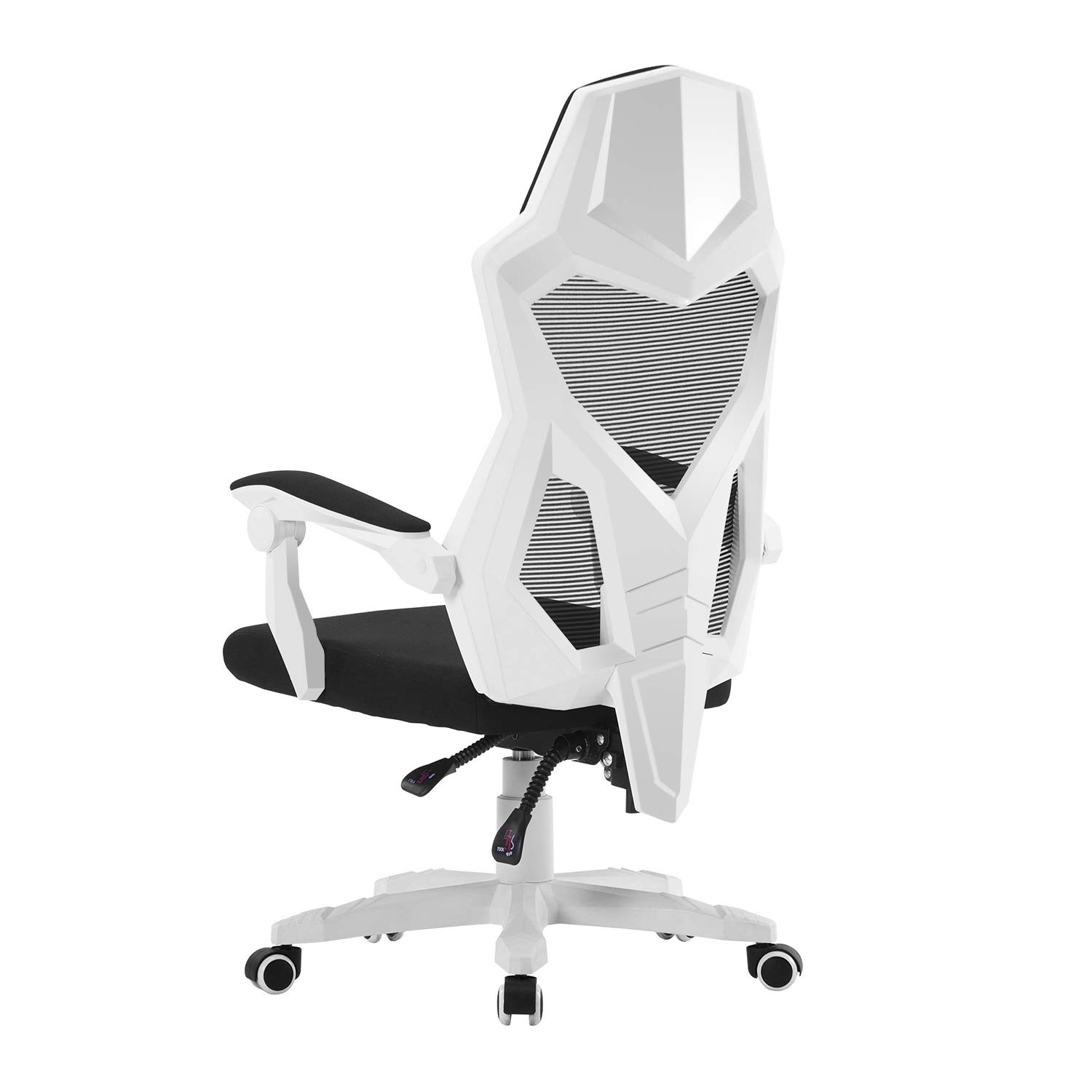 HOMEFUN Ergonomic Office Chair, High Back Adjustable Mesh Recliner Chair, Desk Task Chair with Armrests White by HOMEFUN