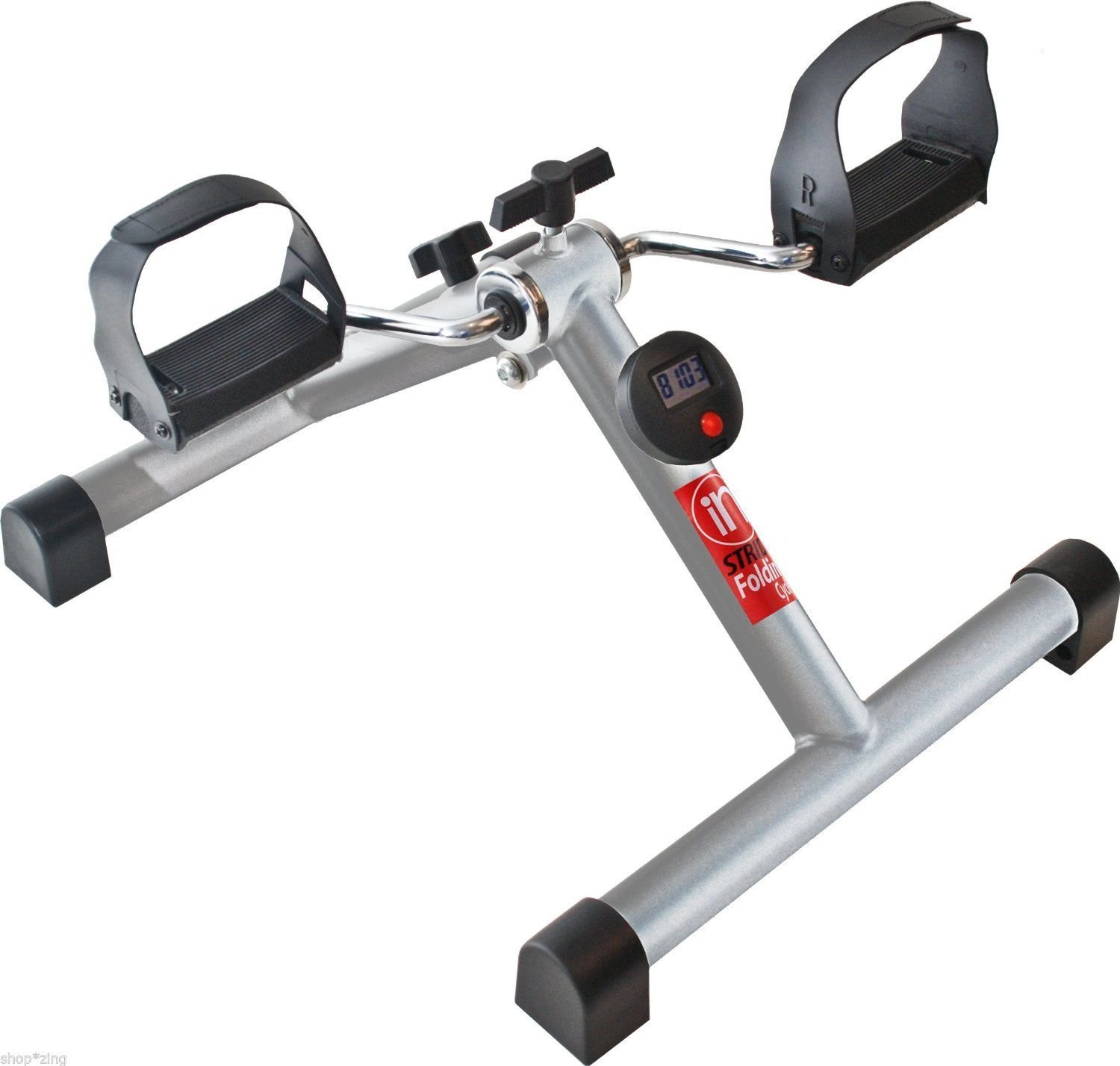 Stationary Exercise Bike Compact Pedal Adjustable Tension Portable Folding Cycle