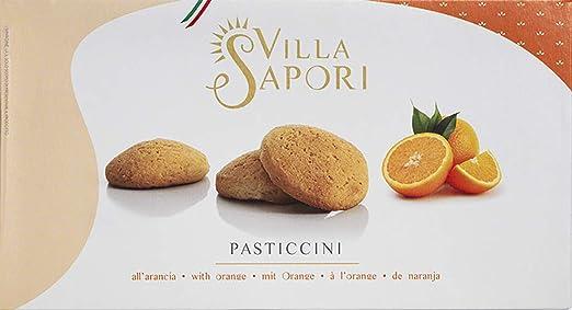 Villa Sapori - Pasticcini a la Naranja, caja de 900 g (pack de 5 x 180 g): Amazon.es: Alimentación y bebidas