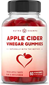 Apple Cider Vinegar Gummies with Mother - 500mg Supplement for Weight Loss, Detox & Digestion Support – Natural ACV Cleanser for Adults & Kids - Pure Vegan, Non-GMO, Pectin-Based Gummy Vitamins