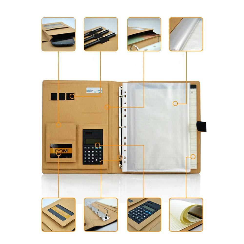 Goodjobb Multi-Function Manager Folder with Calculator Business Document Holder Travel Folder,Black by Goodjobb (Image #3)