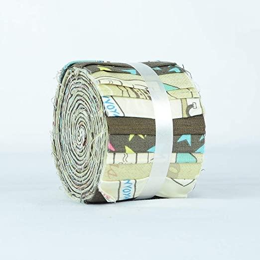 Patchwork 100/% Cotton Material 2.5 W x 45 L 40 Strips Craft Vintage Rose Floral Jelly Rolls Fabric for Quilting