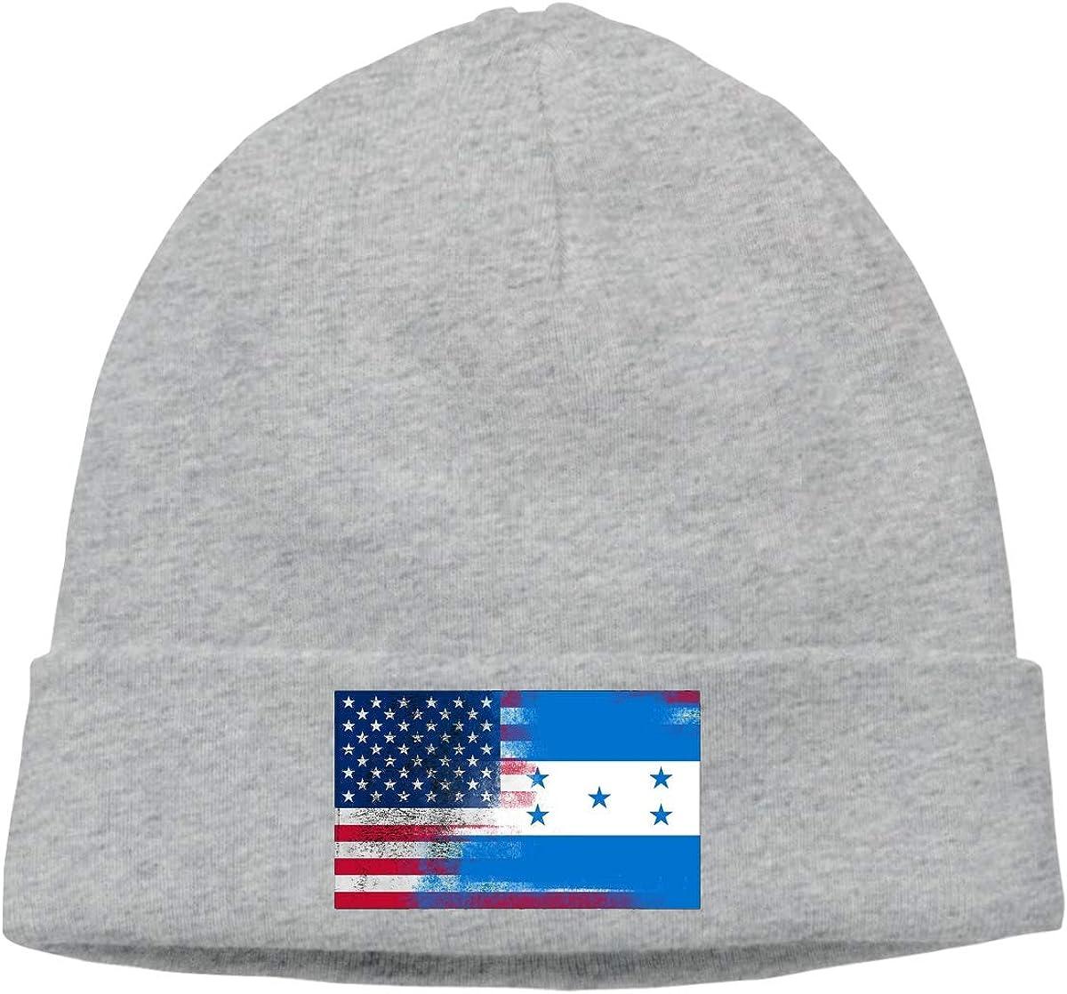 Honduras American Flag CgyOIUY-lop Beanie Hat Warm Hats Skull Cap Knitted Hat