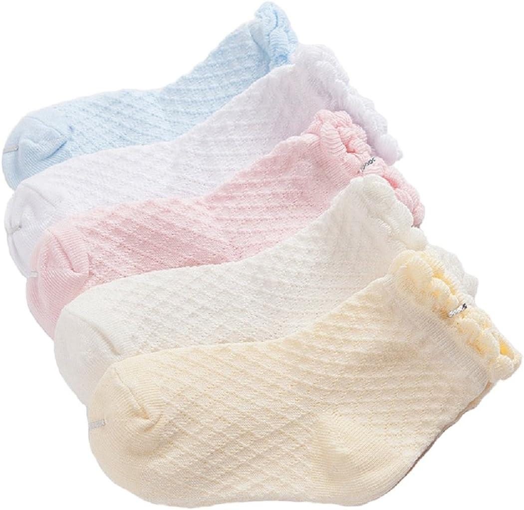 5er Pack Baby Socks set Cotton Thin Infants Toddler Kids Sunmmer Breathable Mesh Socks Colorful 0-11 Years