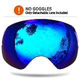 Amazon Price History for:Zionor Snowmobile Snowboard Skate Ski Goggles with Detachable Lens