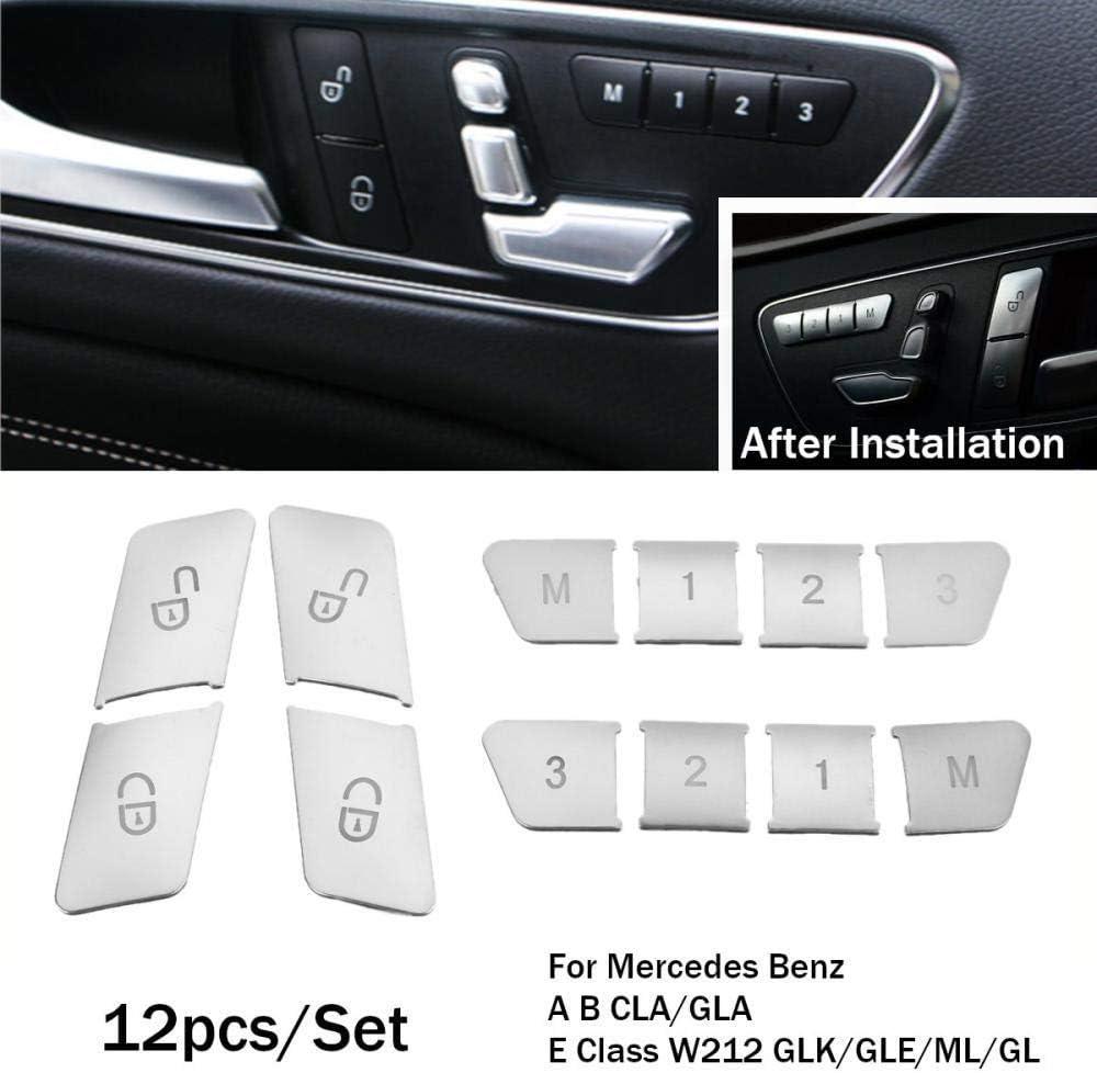 12 Stück Auto Tür Memory Lock Aufkleber Für Mercedes Benz A B Cla Gla E Klasse W212 Glk Gle Ml Gl Elektronik