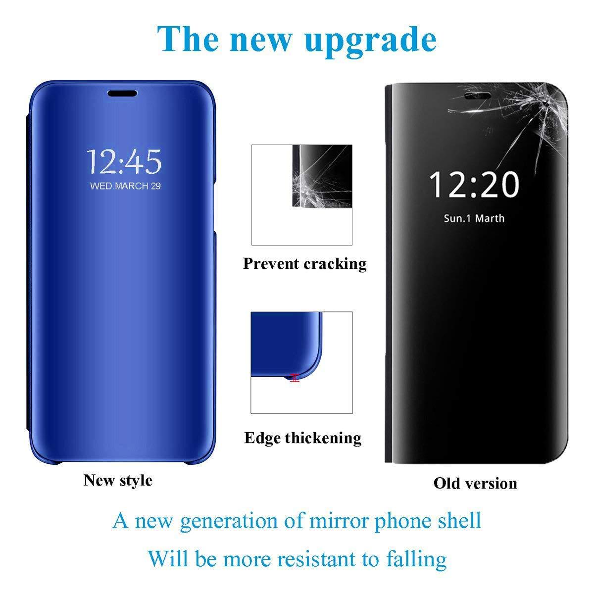 Caler H/ülle Kompatibel Samsung Galaxy A8 Star//A9 Star H/ülle Spiegel Cover Clear View Crystal Case Schutzh/ülle Mirror handyh/ülle handyhuelle etui huelle Flip metallic Frau schal mit Tasche Ledertasche