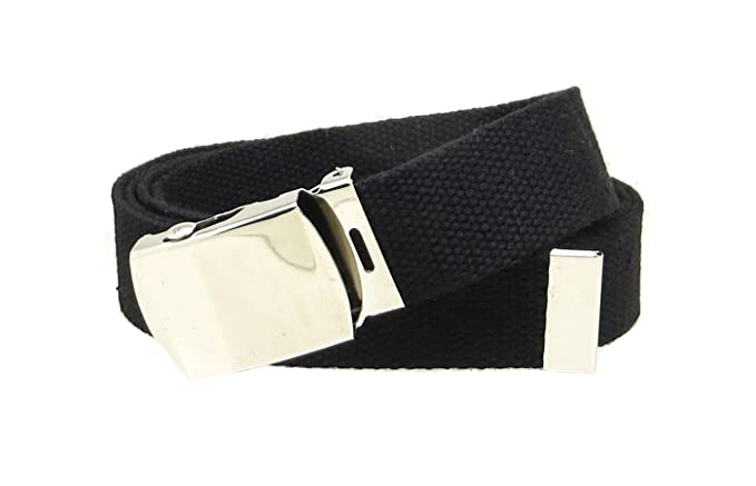 8d7fba1c69f Amazon.com  Black Web Belt with Buckle Military Style  Clothing