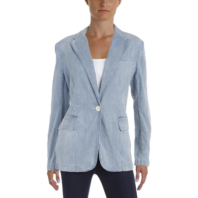 8060a06585 Lauren by Ralph Lauren Women's Single-Button Denim Blazer cheap