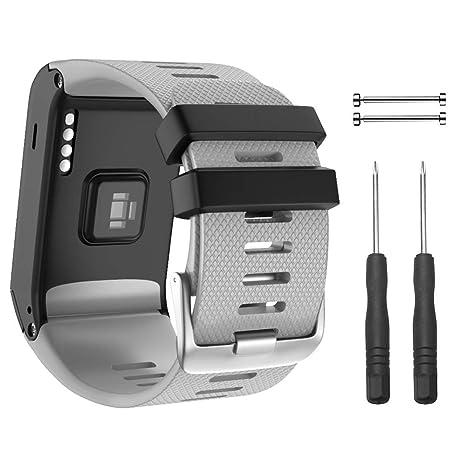 NotoCity Bracelet Vivoactive HR Bracelet, Montre de Remplacement en Silicone Souple Uniquement Compatible Montre Vivoactive HR Sports GPS Montre ...