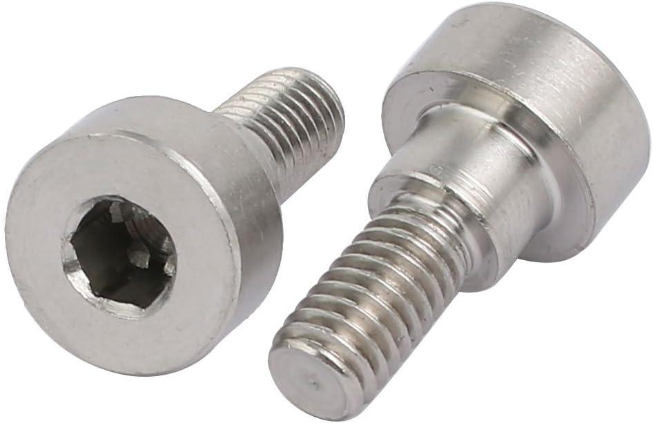 uxcell 5pcs 304 Stainless Steel Hex Socket Shoulder Bolt 8mm Shoulder Dia 5mm Shoulder Length M6 Thread