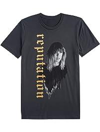 Taylor Swift Reputation Stadium Tour Tee Dark Grey Tour Tee with Reputation in Gold