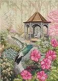 Bucilla Heirloom Collection Counted Cross Stitch Picture Kit, 45480 Garden Hummingbird