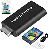EEEKit Video AV Adapter for Sony Playstation 2 PS2 to HDMI Converter w/ 3.5mm Audio Output, for HDTV HDMI Monitor
