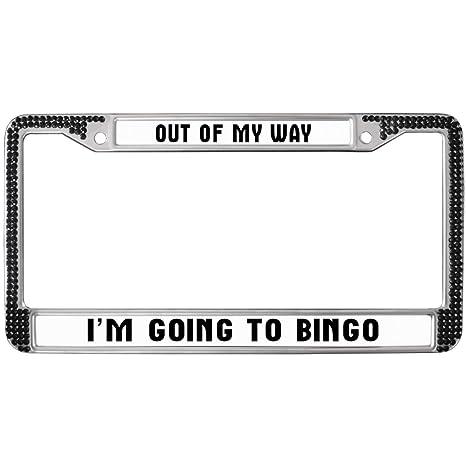 Amazon.com: Funny Life Quotes Car Black License Plate Frame ...