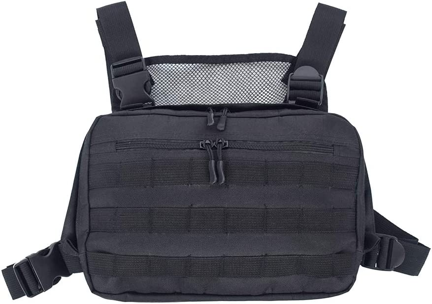 DAYOLY Moda Pecho Rig Bag, Pecho Frontal Pack Bolsa Radio Arnés ...