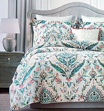 Tahari Floral Folklore Watercolor Bettbezug 3 Stück Damast