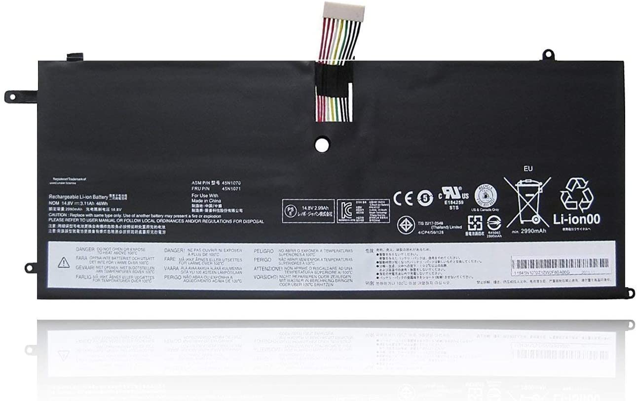 Fully 45N1070 Replacement Battery Compatible with Lenovo ThinkPad X1C Carbon X1C 45N1070 45N1071-14.8V 3110mAh 46WH