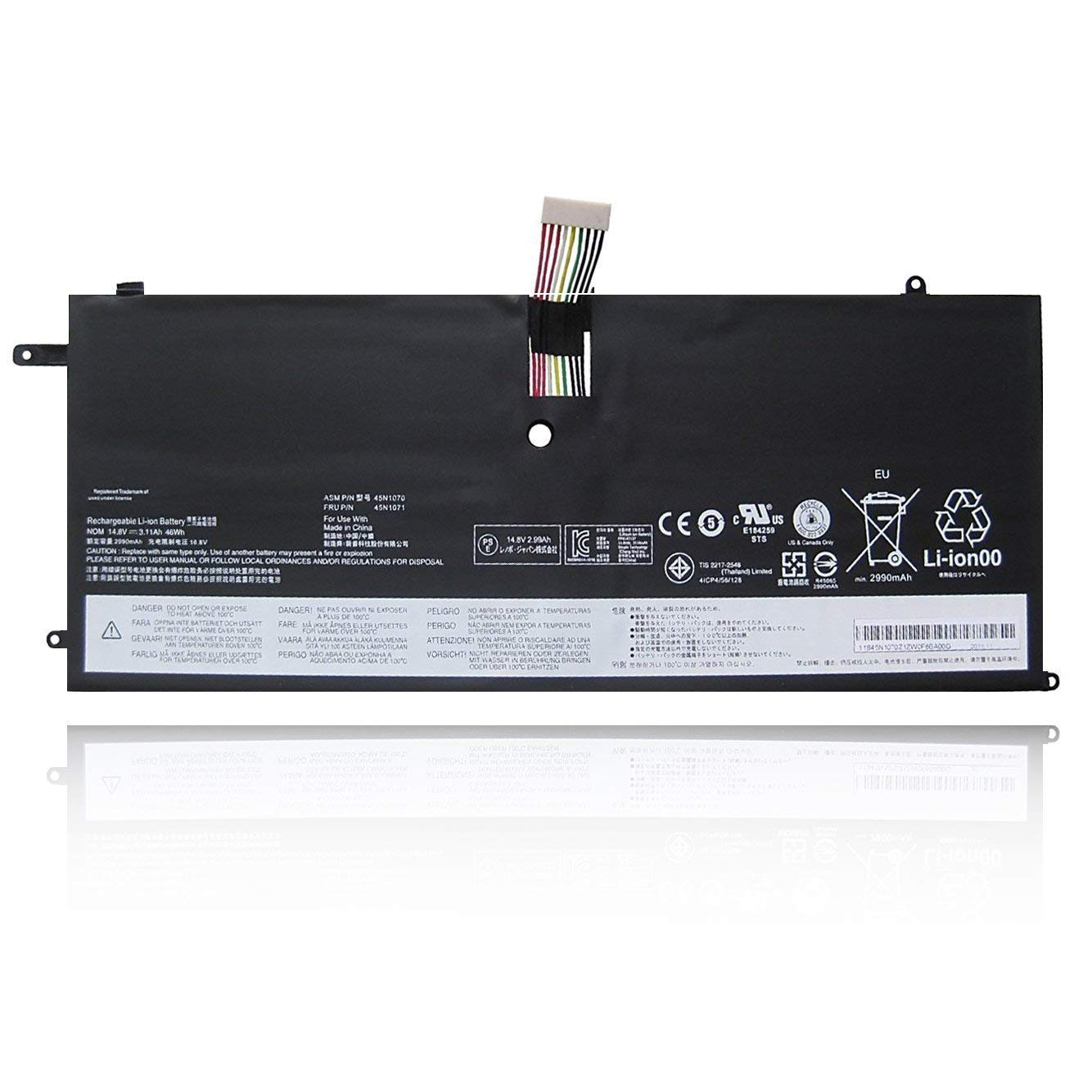 Bateria 45N1070 Lenovo ThinkPad X1C Carbon X1C 45N1070 45N10