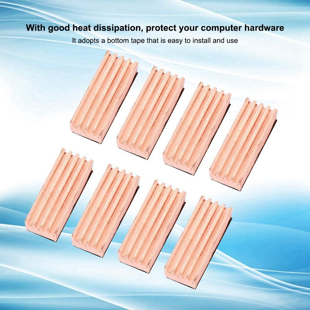 Pure Copper Material Durable Heat Sink to Protect Your Computer Hardware,12 14 mm// 0.47 0.55 Heat Sink Applicable to Video Memory of Graphics Card
