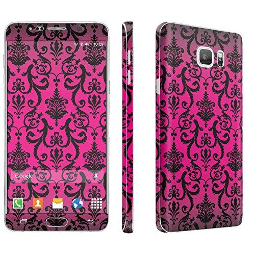Samsung Galaxy Note 5 Phone Skin - [SkinGuardz] Full Body Scratch Proof Vinyl Decal Sticker with [WallPaper] ] - [Vintage Flower-Pink] for Samsung Galaxy Note 5