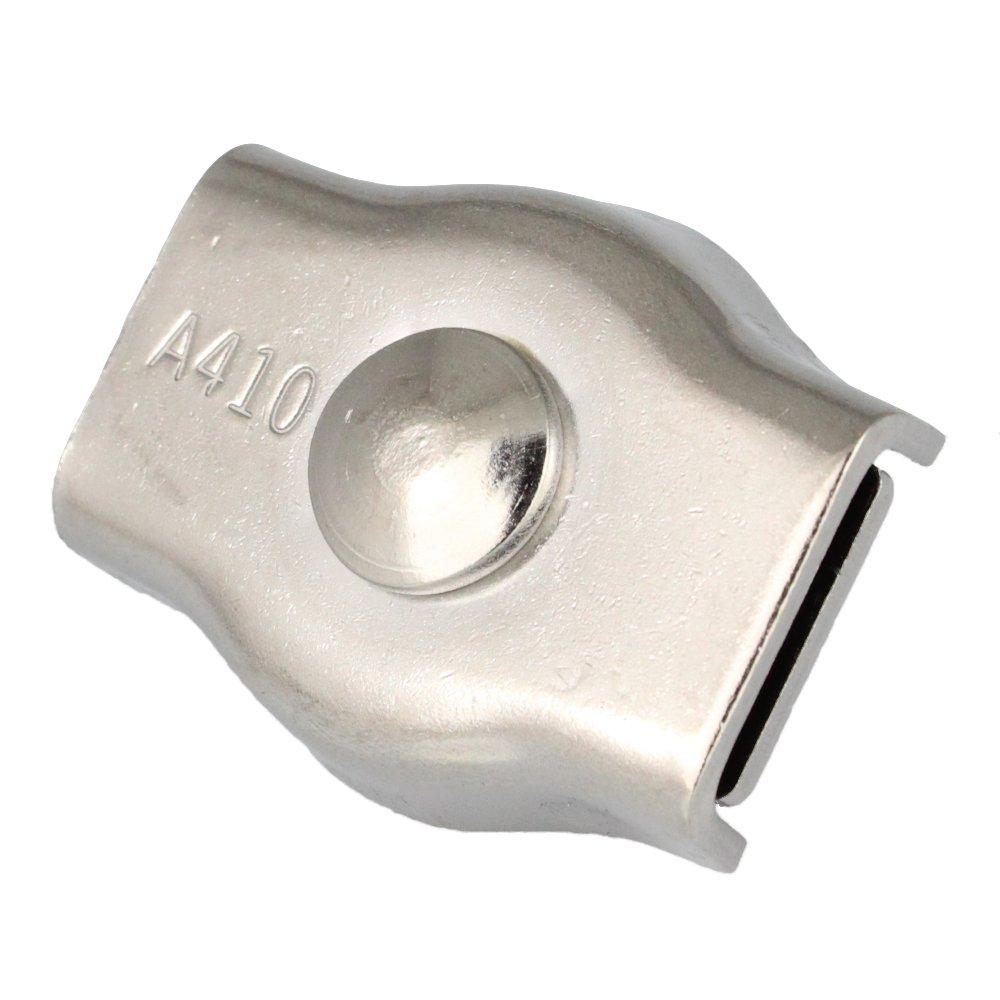 10pezzi Simplex fune metallica M5D = 4mm–Acciaio Inossidabile A4–AISI 316 Bootsteile Brauer