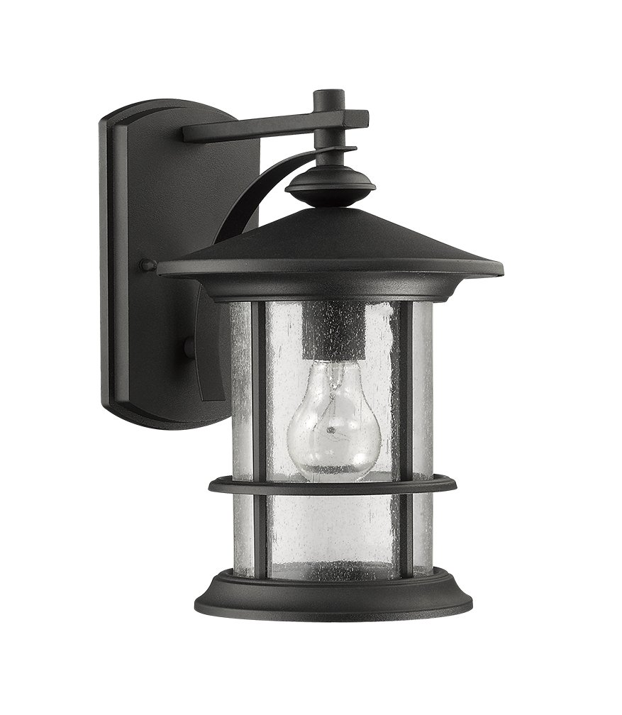 MICSIU Wall Mount Lighting Outdoor Indoor lamps Light Fixture Simple Industrial Antique Loft Retro Style Vintage Wall sconce Edison 60W ST58 bulb included for Home, Restaurant, Bar, Cafe, Club (Black)
