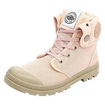 fefa9640e07a80 Fuxitoggo Femmes Bottes Palladium Style Fashion High-Top Chaussures de  Cheville Militaires Chaussures de Sport