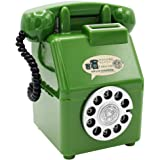 ラッキーアイランズ 公衆電話 ダイヤル式 貯金箱 レトロ 昭和 アンティーク お金 貯まる ディスプレイ 飾り 置物