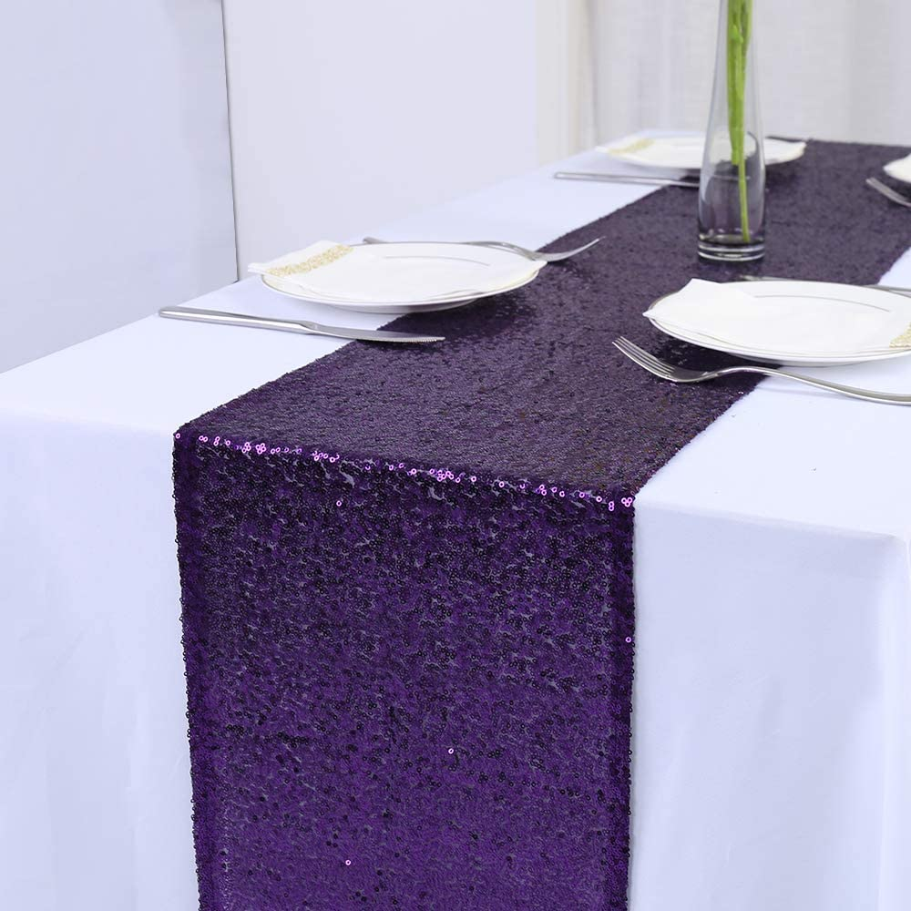 Rectangle Sequins Glitter Table Runner Flag Tablecloth Wedding Party Decoration