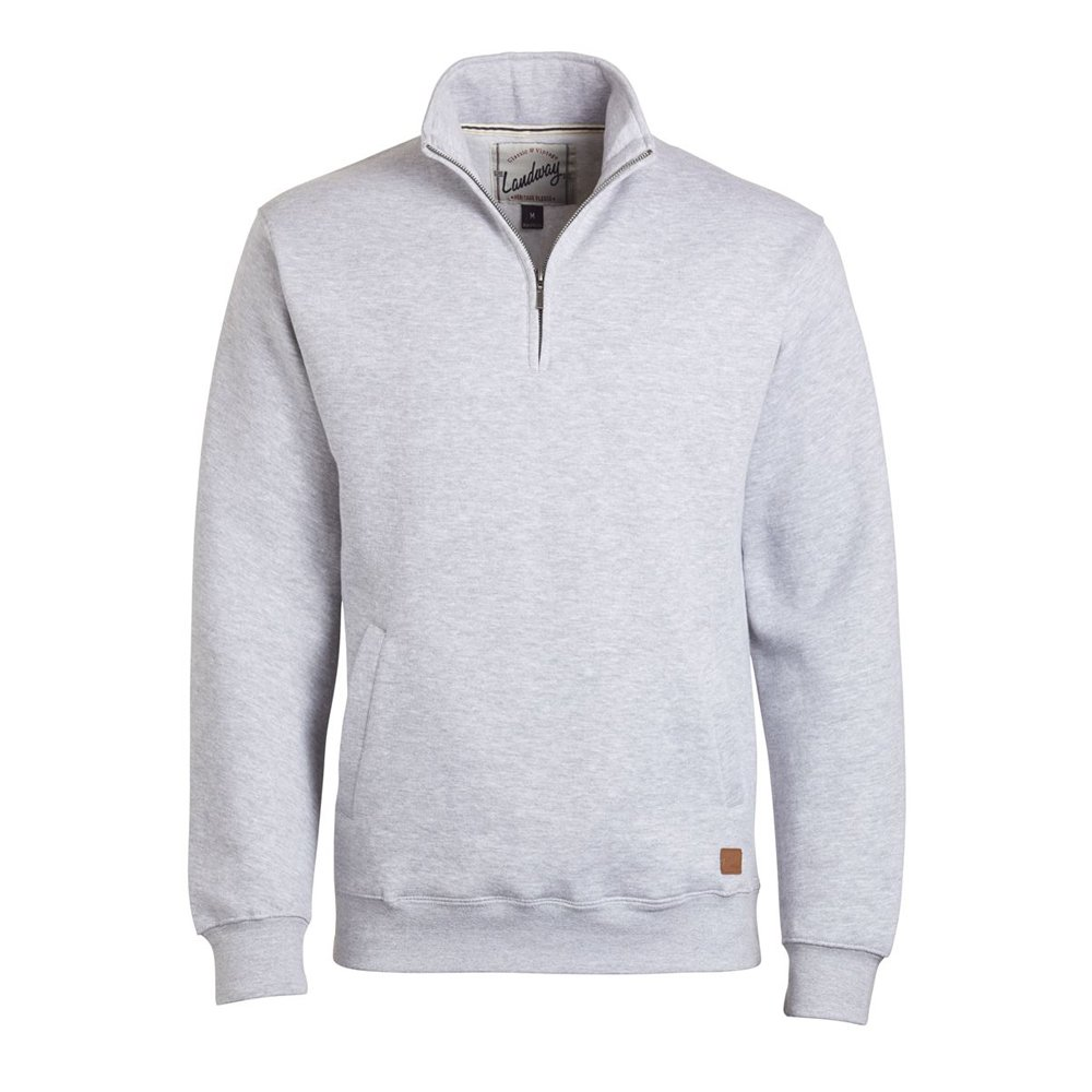 Landway Mens 1//2 Zip Cotton Sweatshirt