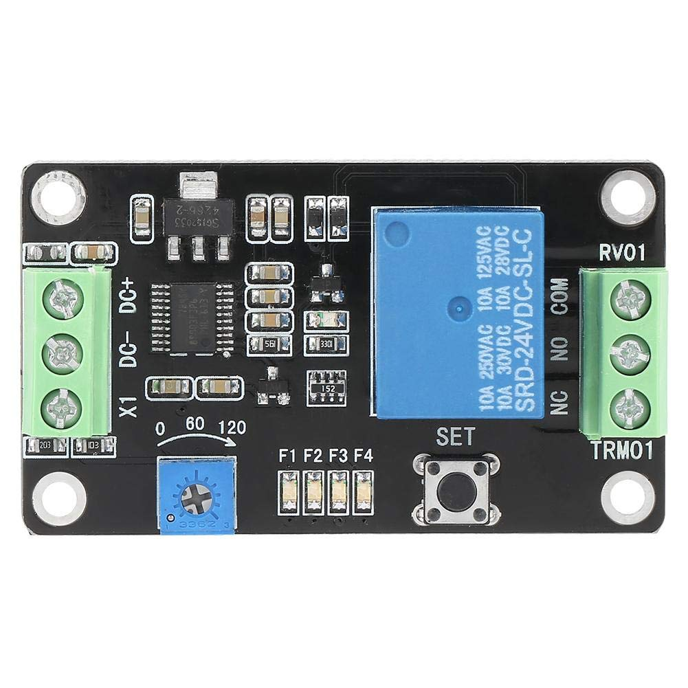 DC24V Akozon Rel/é de Retardo de Tiempo//Autobloqueo//Interruptor de retardo//Retardo de encendido pull-in//Desconectar//Temporizador 555