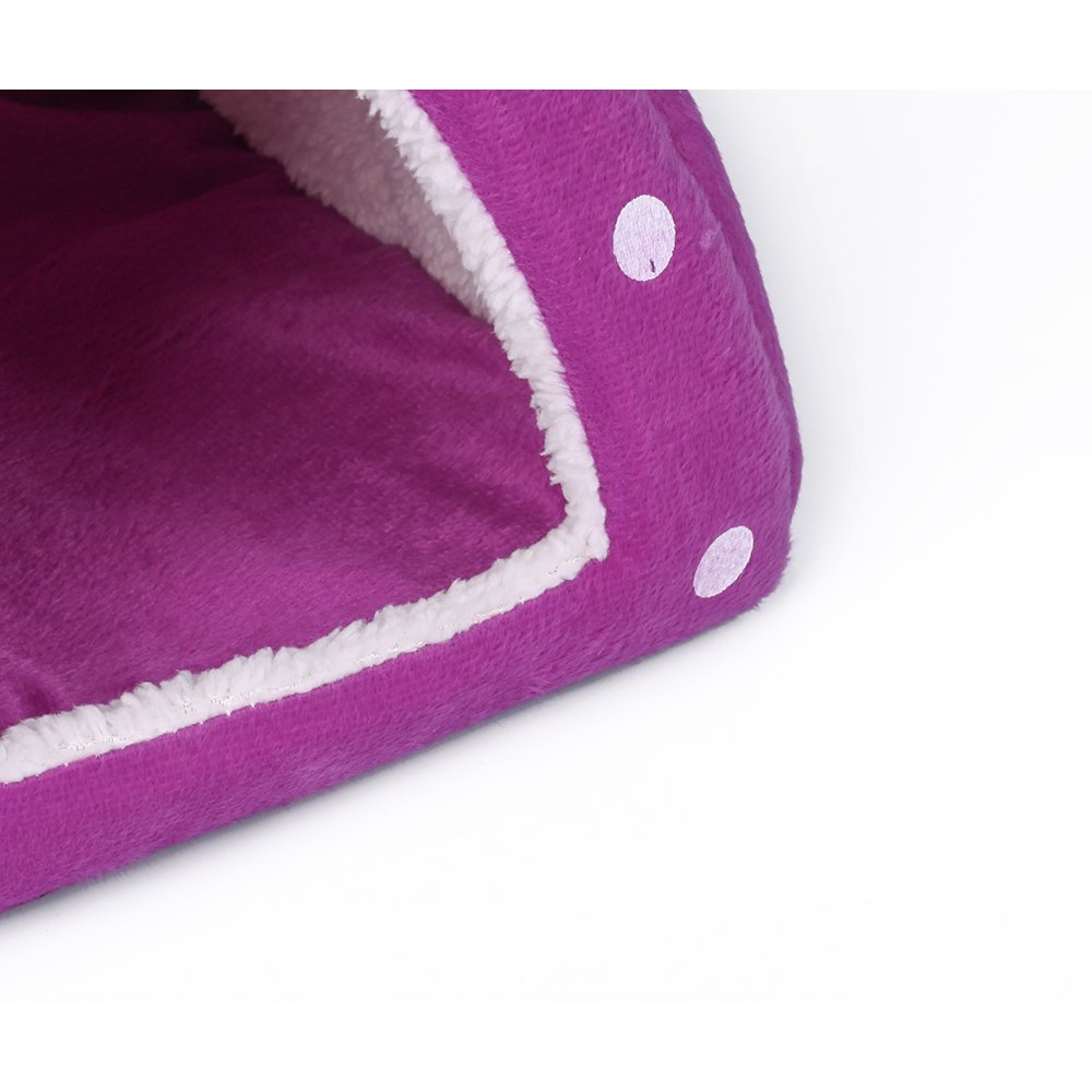 Spring Fever Strawberry Guinea Pigs Fleece House Rabbit Cat Pet Small Animal Bed Purple XL (18.918.90.8 inch) by Spring Fever (Image #7)