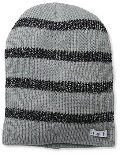 NEFF Women's Daily Sparkle Stripe Beanie, Grey, One Size