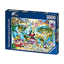 Ravensburger Disney - Mapamundi, puzzle de 1000 piezas 15785 3