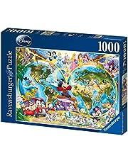 Ravensburger Disney World Map Puzzle 1000pc,Adult Puzzles