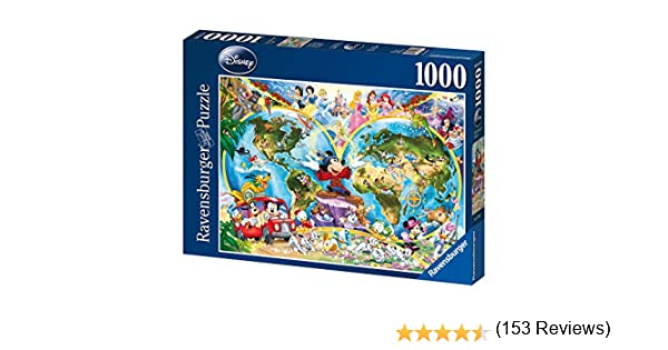 Ravensburger Disney - Mapamundi, Puzzle de 1000 Piezas 15785 3 ...