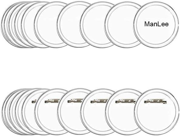 LAKIND 36PCS Faire Ses Badge Personnalisable 45mm /Épingle sans Machine avec Papier /à Imprimer 36pcs
