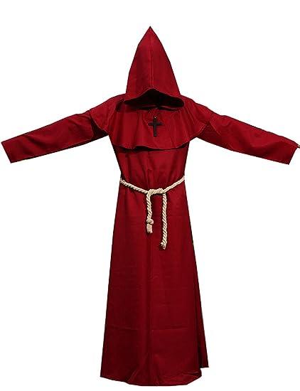 Amazon.com: Friar con capucha medieval Monje sacerdote traje ...