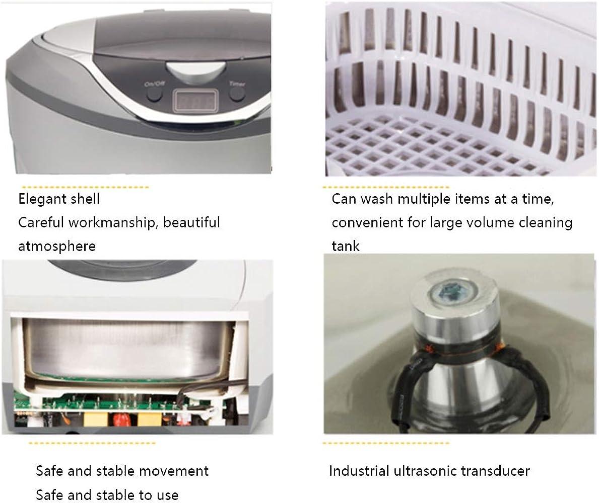 Limpiador por ultrasonidos, Lavadora ultrasónica 870 ml ABS Acero Inoxidable descontaminar Equipo bajo Ruido desoxidación Lavadora (42khz) para Gafas Relojes Joyas: Amazon.es: Relojes