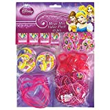 Amscan Disney Princess Sparkle Mega Mix Value Pack Birthday Party Favor, Multicolor, 11 1/2