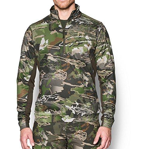 Under Armour Men's MicroThread Fleece 1/4 Zip, Ridge Reaper Camo Fo/Bayou, Large
