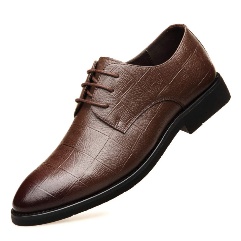Brown Mens Loafers Flats Smart Lace Up Smart Office Business Party Wedding Round Toe Wingtip Formal Brogues shoes