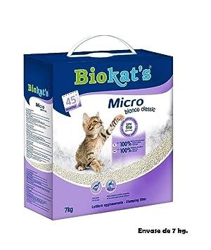 Arena para lecho gatos Biokats Micro bianco classic 7Kg absorbente de olores