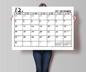 amazon カレンダー 大きいサイズ 12か月分 開始月を選べる 2018